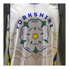 Load image into Gallery viewer, Yorkshire Rose Running Vest (White) Mens/Unisex