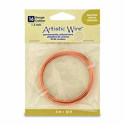 16 ga. Bare Copper Artistic Wire (10 ft4. spool)