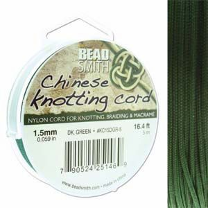 1.5 mm Dark Green Chinese Knotting Cord