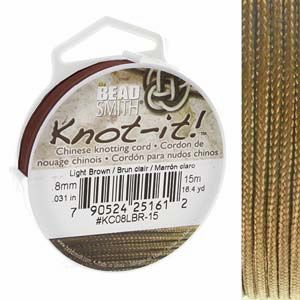 .08 mm Light Brown Chinese Knotting Cord