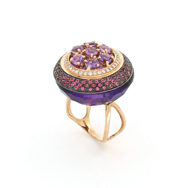 Les Bonbons Rounded Purple Ring