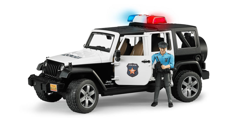 Jeep Wrangler Unlimited Rubicon Police avec policier and acc. - Bruder 02526