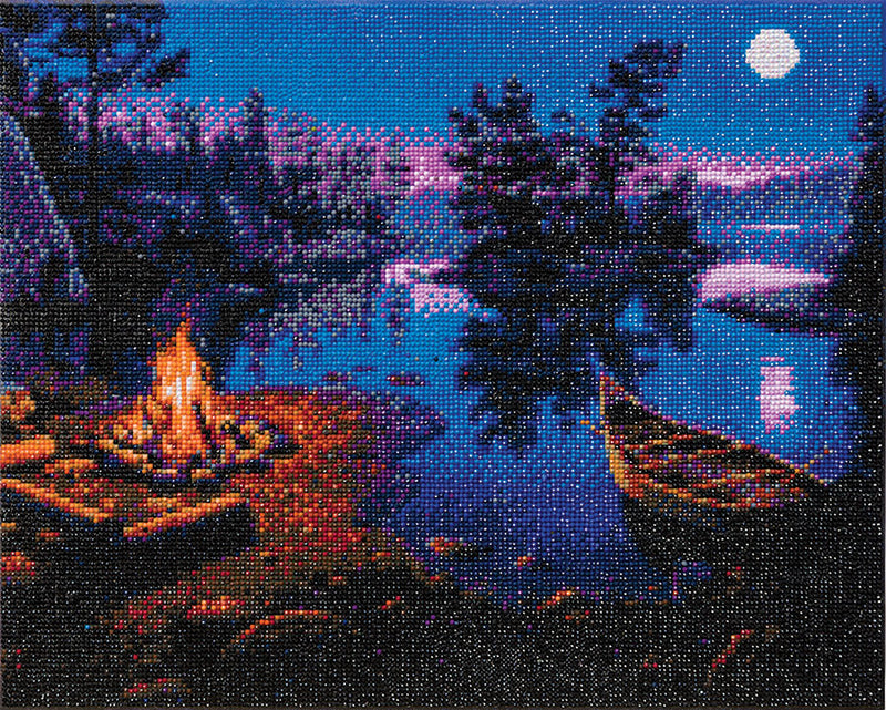 "Toile montée (16x20"") diamond painting - Moonlight bay"
