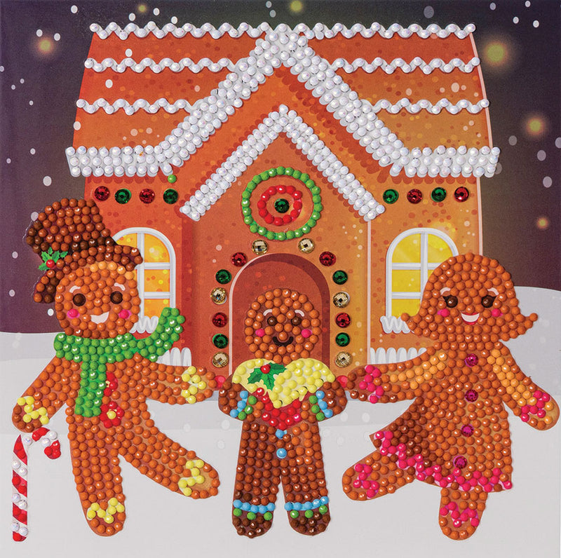 Carte diamant - Gingerbread Family