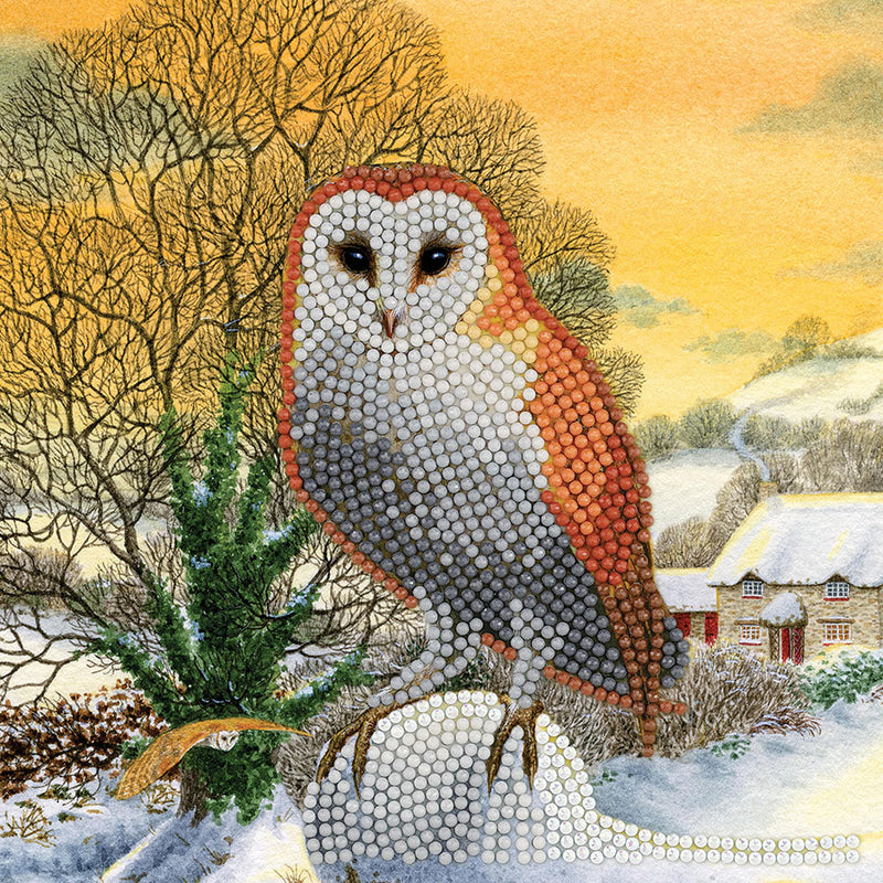 Carte diamant - Winter Owl