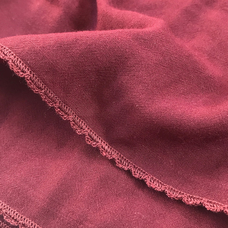 Embroidery Signature Shawl Burgundy