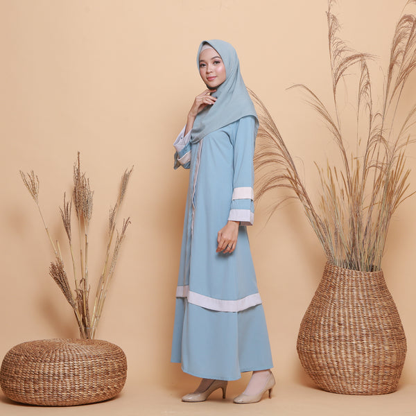 Kamilah Dress Blue Pastel