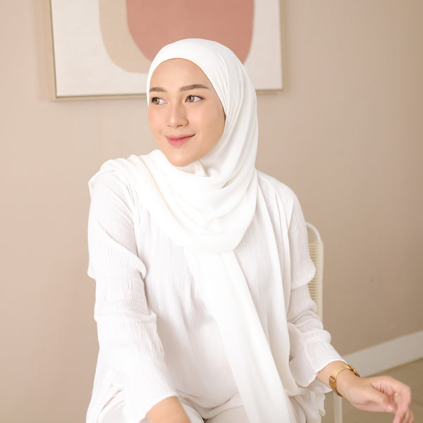 Bawal Inner Shawl Broken White