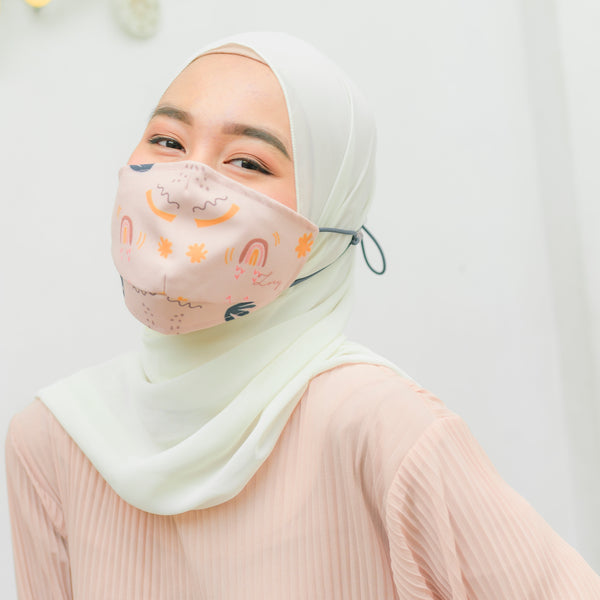 Headloop Mask Beige