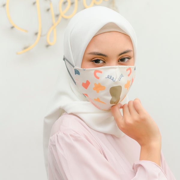 Headloop Mask Broken White