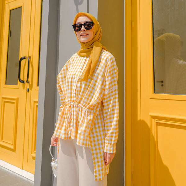 Claudia Top Shirt Mustard