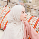 Embroidery Signature Shawl Cream