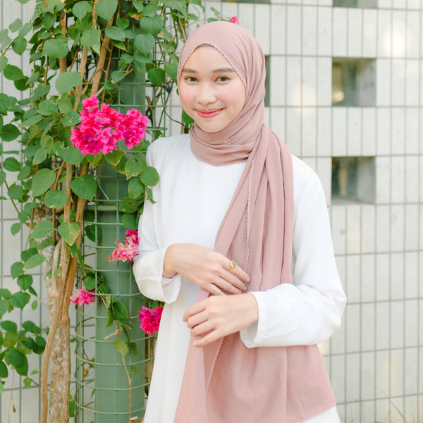 Embroidery Signature Shawl Pink Pastel