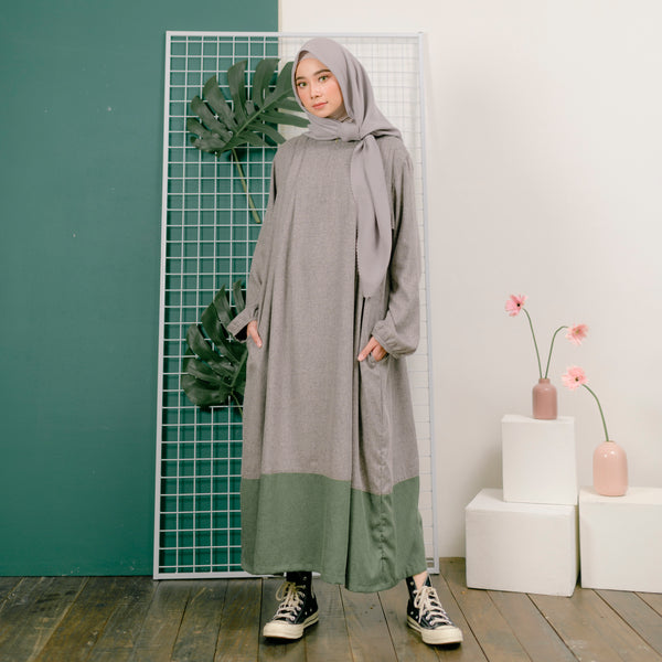 Meena Tunik Grey Army