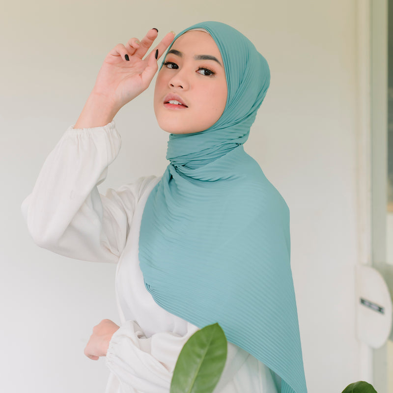 Bawal Pleats Shawl Tosca