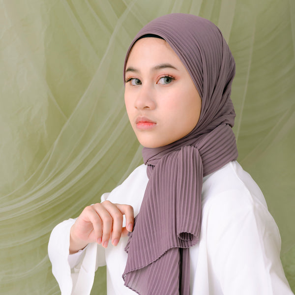 Ayra Pleats Shawl Dark Orchid