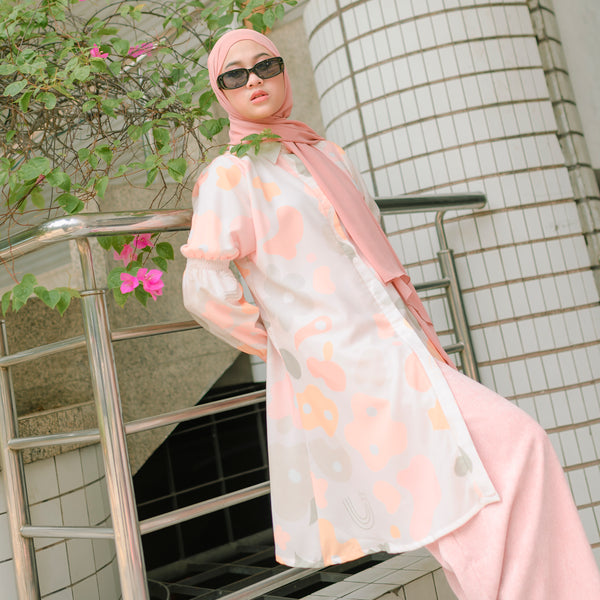 Casya Tunik Orange Cream