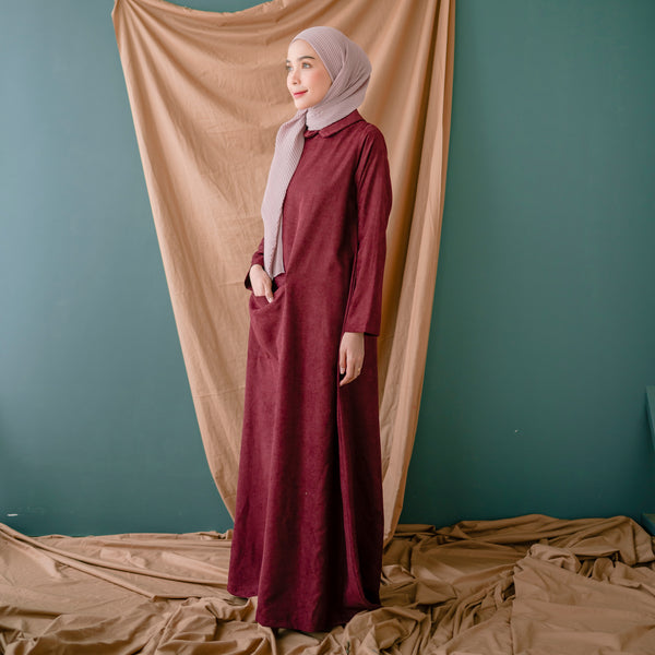 Laraya Dress Maroon