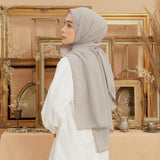 Defect Embroidery Signature Shawl Stone Grey