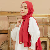 Defect Embroidery Signature Shawl Maroon