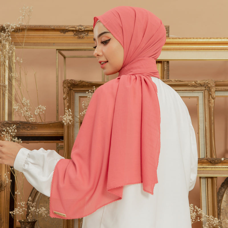 Embroidery Signature Shawl Rapture Rose