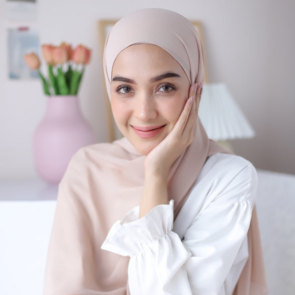 Bawal Shawl Nude Cream