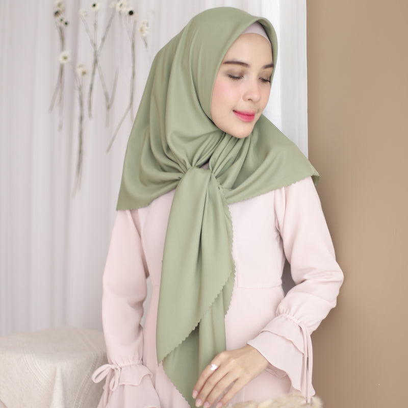 Clay Sateen Square Green Pastel