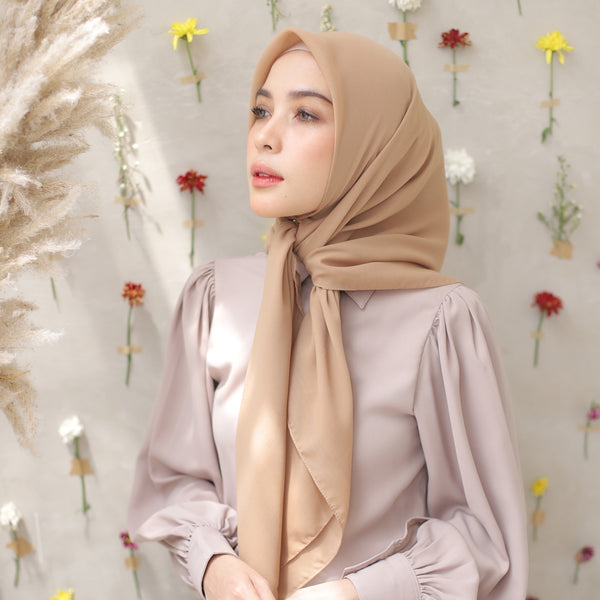 Polly Cotton Creamy Zaitun