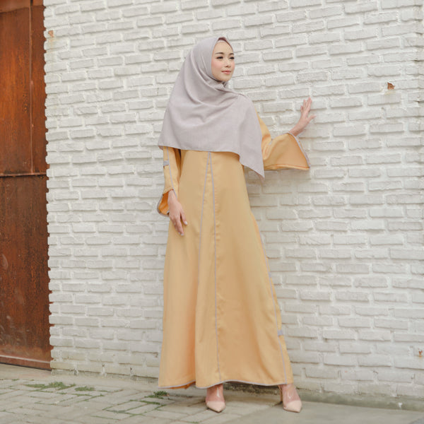 Shafiyah Dress Deep Beige