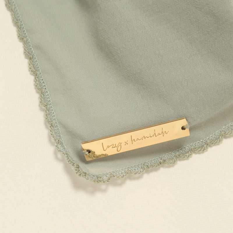 Embroidery Signature Shawl Green Pastel