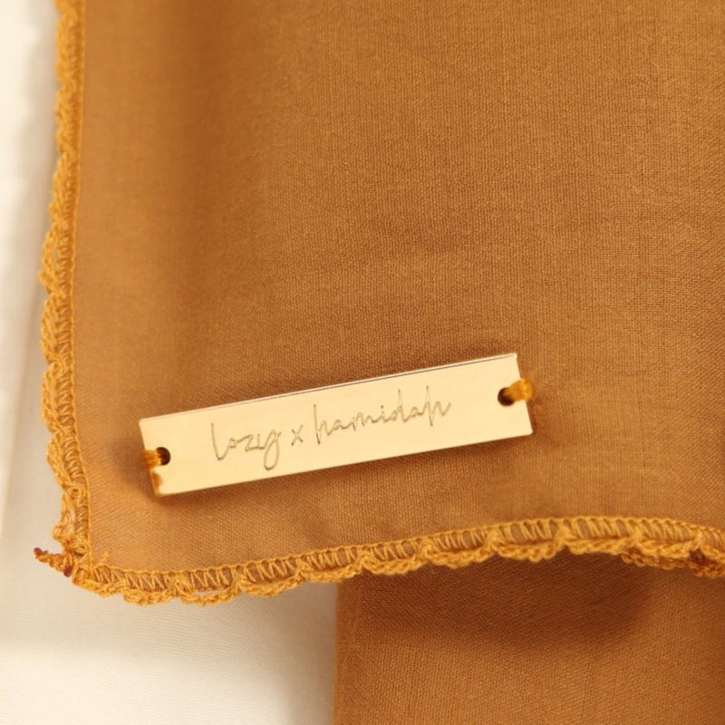 Embroidery Signature Shawl Harvest Gold