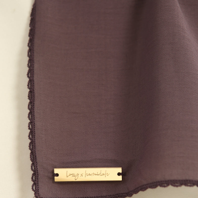 Embroidery Signature Square Lavender