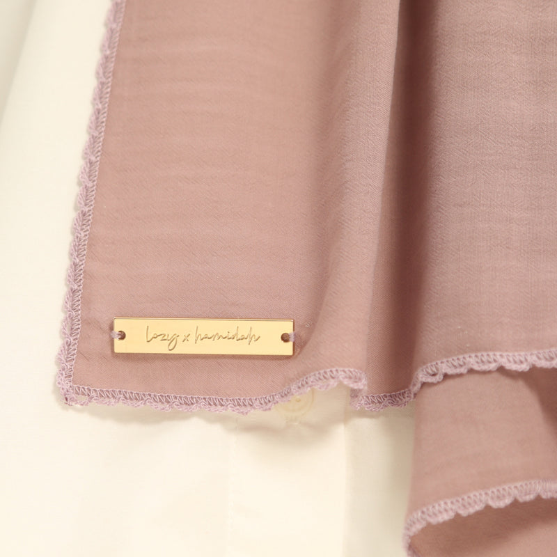 Defect Embroidery Signature Shawl Lilac