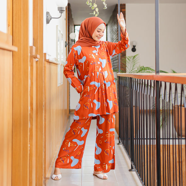 Naura Pajamas Orange Island