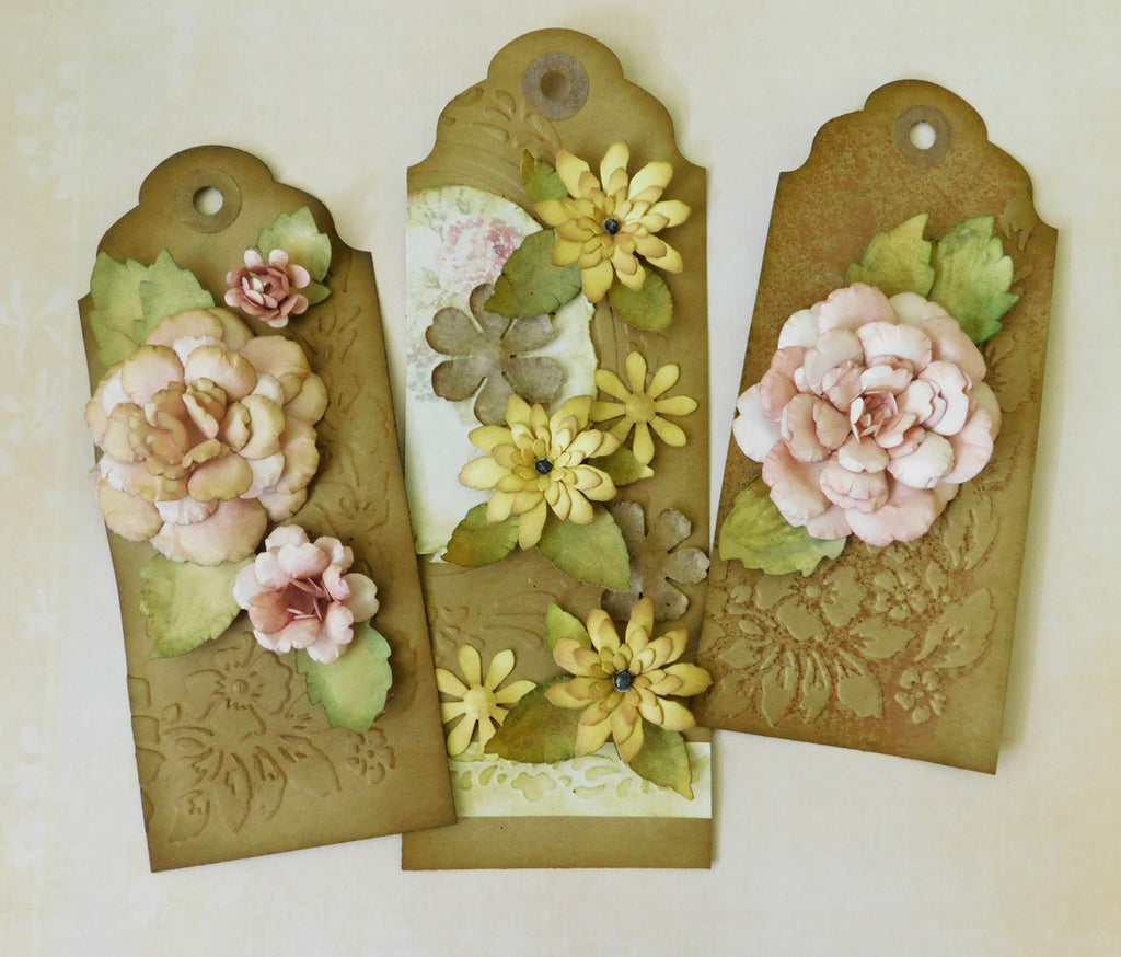 Floral Tags - Shaped Paper Flower Project