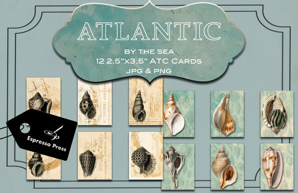 Atlantic By The Sea ATC Cards