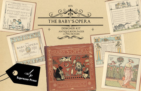 The Baby's Opera Collection Book Digital Designer Kit