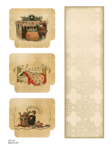 "Vintage Christmas II Digital Printables Collection (NEW Horizontal 8.5X11"" Format)"