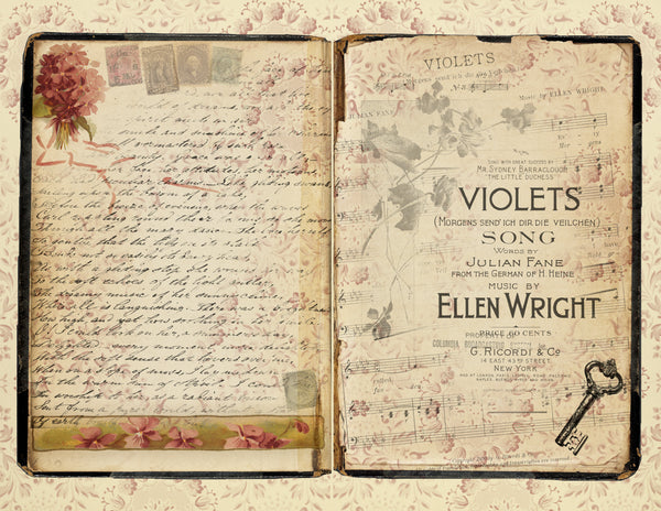 Violets & Verses Digital Paper and Ephemera Collection