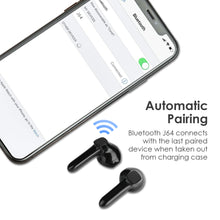 Load image into Gallery viewer, ET J60 TWS Bluetooth Headphone with Magnet Charging Case Hand-free Earphone Stereo Sound