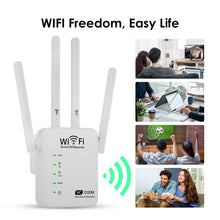 Load image into Gallery viewer, WiFi Range Extender 1200Mbps WAN&LAN Port Simple Setup Router Signal Repeater