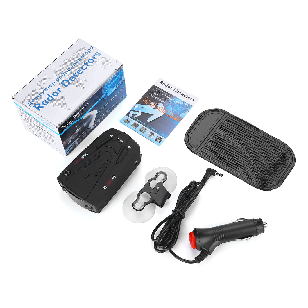 Laser Radar Detector for Cars Voice Prompt Speed Vehicle Speed Alarm System City/Highway Mode Auto 360 Degree Detection
