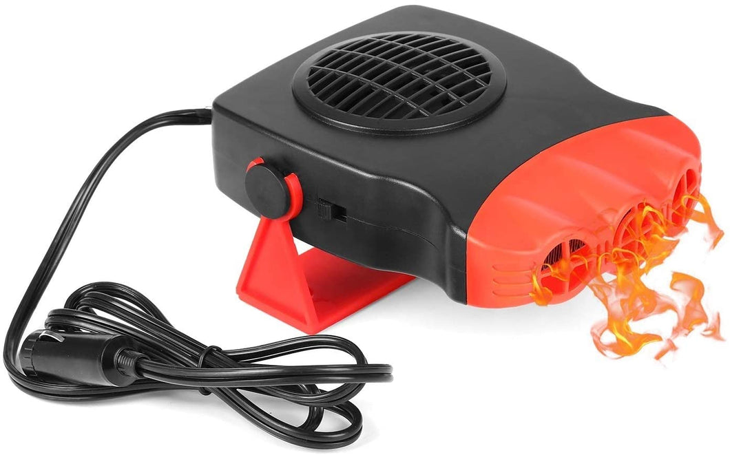 BBGear Portable Electronic Car Heater Auto Heater Fast Heating & Cooling Fan Vehicle Defogger Defrost 12V 150W
