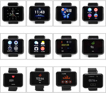 "Load image into Gallery viewer, T91 2 in 1 Smart Watch with TWS Wireless Bluetooth Headset 1.4"" Touch Screen Heart Rate Blood Pressure Fitness Tracker Earbuds"