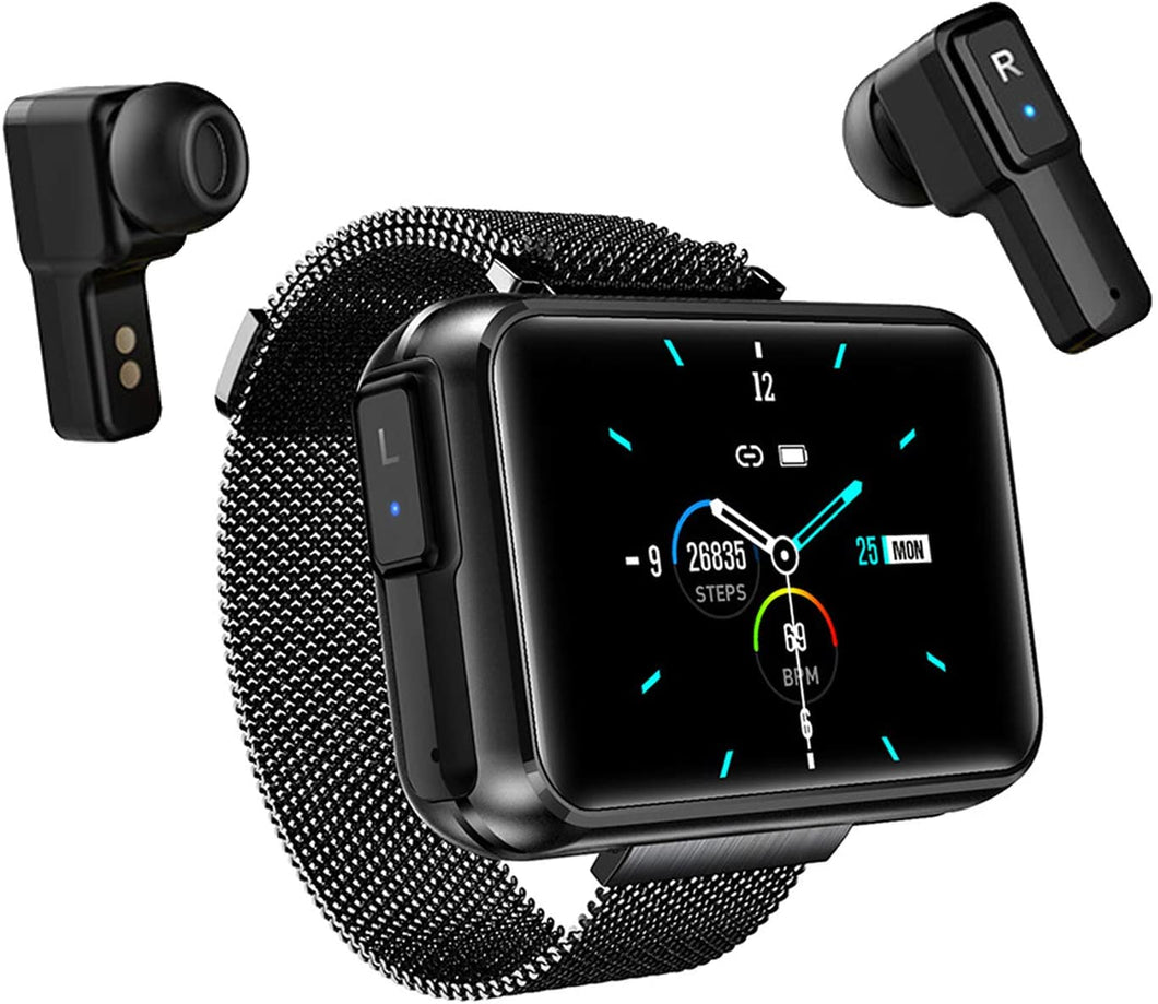 T91 2 in 1 Smart Watch with TWS Wireless Bluetooth Headset 1.4