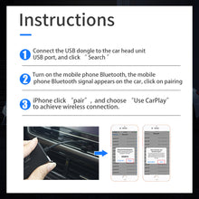 Load image into Gallery viewer, C4 Wireless Apple Carplay Auto Dongle for Original Factory Screen Support iPhone for Audi/Honda/Volvo/Volkswagen