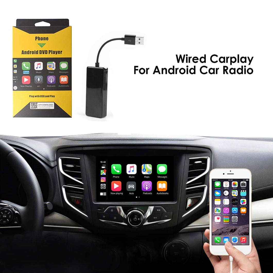 C1 Wired Carplay USB Dongle Support Android IOS, Auto Mirroring/Smartphone Link Receiver IOS SIRI Voice Control/Google Maps