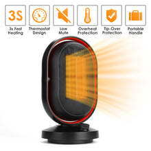 Load image into Gallery viewer, Portable Electric Space Heater 6.3x6.3x11 inches 1500W Ceramic Heater 3s Fast Quiet Heating