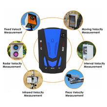 Load image into Gallery viewer, Laser Radar Detector for Cars Voice Prompt Speed Vehicle Speed Alarm System City/Highway Mode Auto 360 Degree Detection
