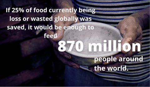 If 25% of all food that is currently being loss or wasted globally was saved, it would be enough to feed 870 million people around the world